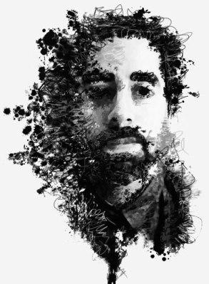 selfportrait. ink spatter