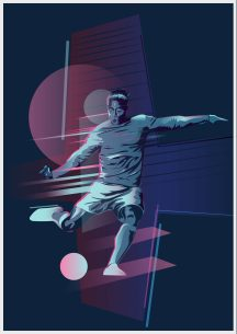 Illustration for football poster