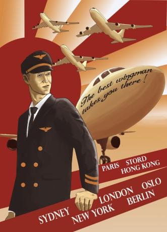 Custom pilot poster