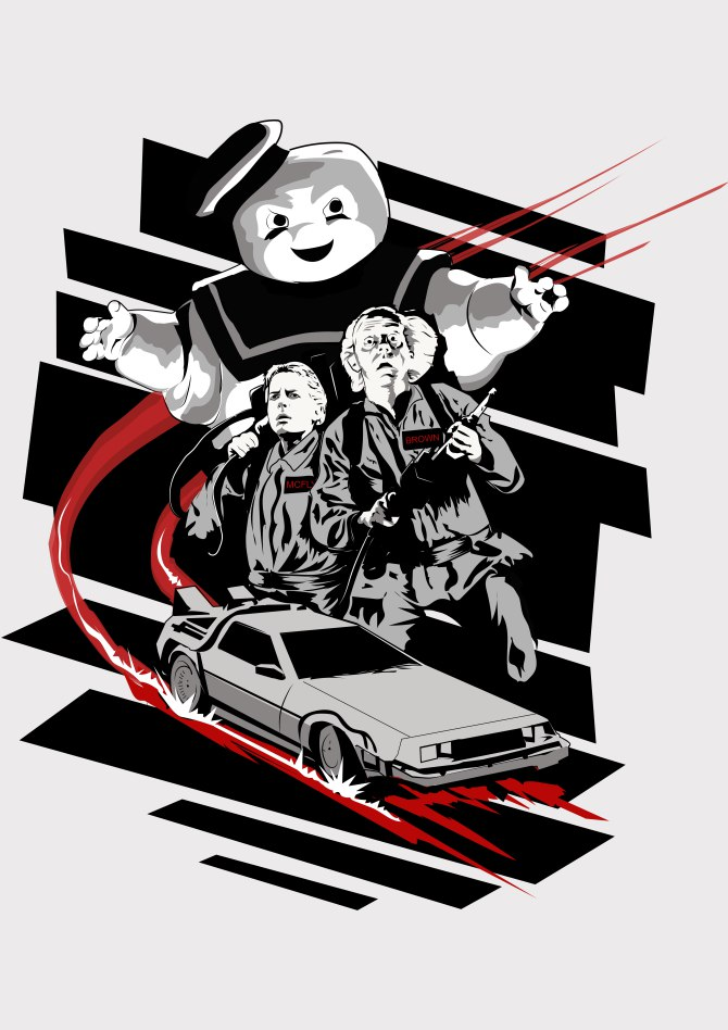 Ghostbuster-Back to the future mashup-
