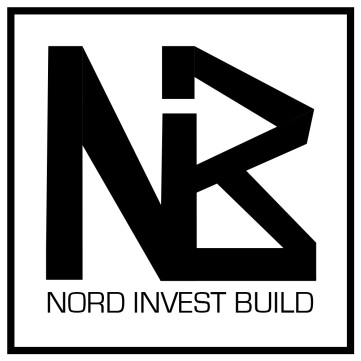 Logo and website for Nord Invest Build